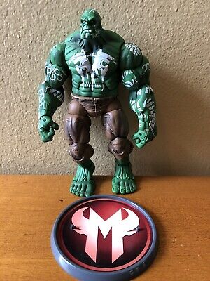 """MARVEL LEGENDS HOUSE OF M HULK TOY BIZ 6"""" ACTION FIGURE 2006 LOOSE WITH STAND"""