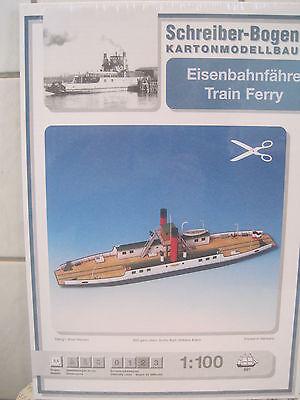 Eisenbahnfähre Schiff Kartonbausatz *NEU* Schreiber Bogen