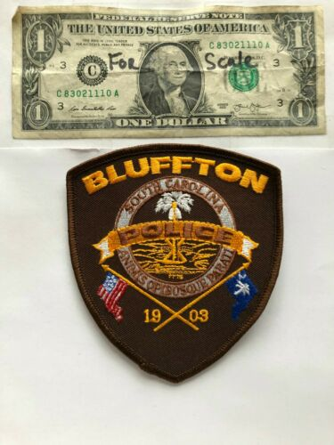 Very Rare Bluffton South Carolina Police Patch Un-sewn great condition