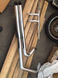 Harley softail longshot pipes