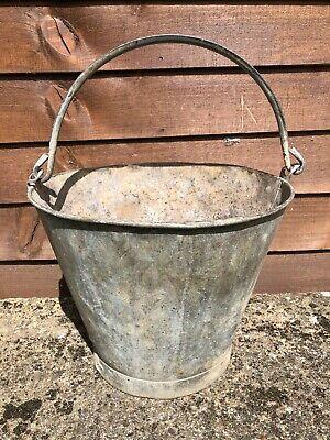 Vintage Galvanised Bucket - Garden Planter