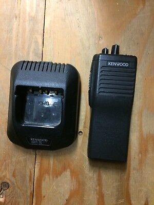 Kenwood Tk-390 Uhf Radio Wcharger. No Antenna.