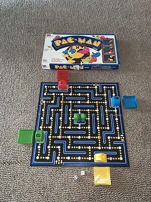 1982 Milton Bradley Pac Man Board Game (1 YELLOW MARBLE MISSING)