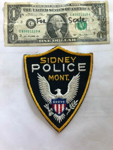 Sidney Montana Police Patch in great shape