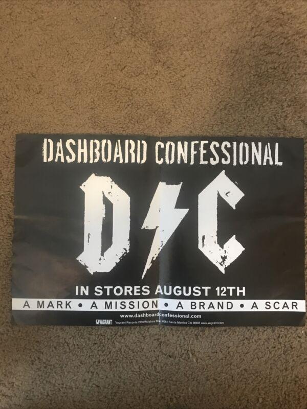 "Dashboard Confessional Promo Poster 2003 Vagrant Records Carrabba 11""x17"""