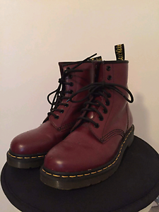 Doc Marten's US 6, Cherry Red Leather Auchenflower Brisbane North West Preview