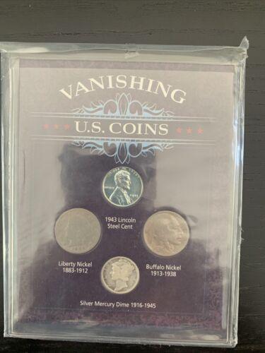 Vanishing US Coins - Silver Mercury Dime, Steel Cent Liberty, Nickel Buffalo  - $12.50