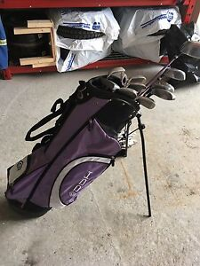 Ladies golf clubs and carry bag