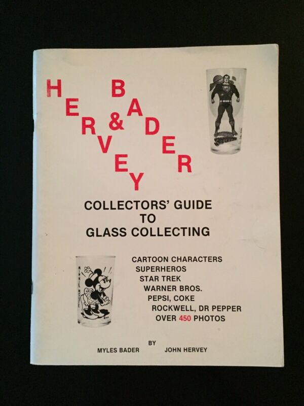 Vintage 1988 Hervey & Bader Collector's Guide to Glass Collecting First Edition