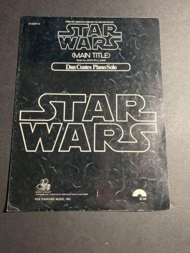 STAR WARS - Main Title Theme Song Piano Sheet Music - John Williams / Dan Coates - $12.95