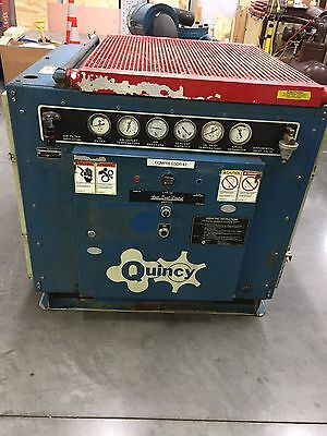 Quincy Belt Drive Rotary Screw Air Compressor - 50 Hp Model Qma-50