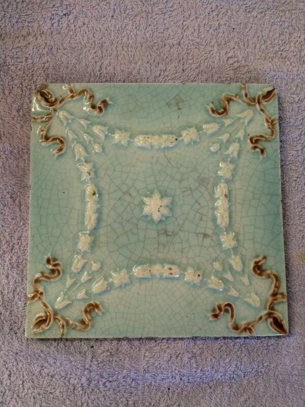 Antique Victorian C1890 Ceramic Tile