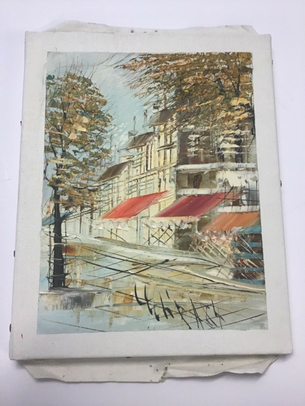 Three Signed Small Oil/Canvas Paris City Views - $79.00