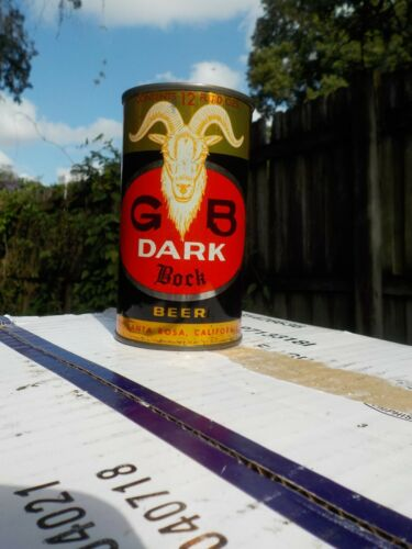 GB DARK BOCK GRACE BROTHERS FLAT TOP OLD BEER CAN