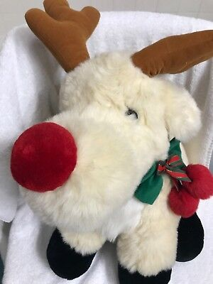 BIG 1995 JINGLE BELLS RUDOLPH THE RED NOSE REINDEER CHRISTMAS PLUSH JCPENNEY TOY