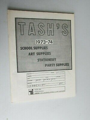 MBC34 Tash's School Supplies Art Stationery Party 1973 catalog booklet ](Party Supplies Catalog)
