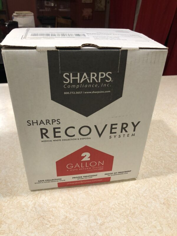 2-GALLON SHARPS 12000 RECOVERY SYSTEM USPS Authorized Medical Waste Collection