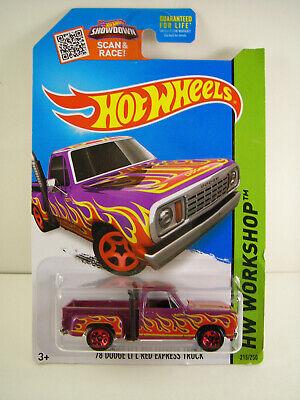 Hot Wheels 78 Dodge LIL Red EXPRESS TRUCK Purple w/Flames NIP by (Lil Red Truck)