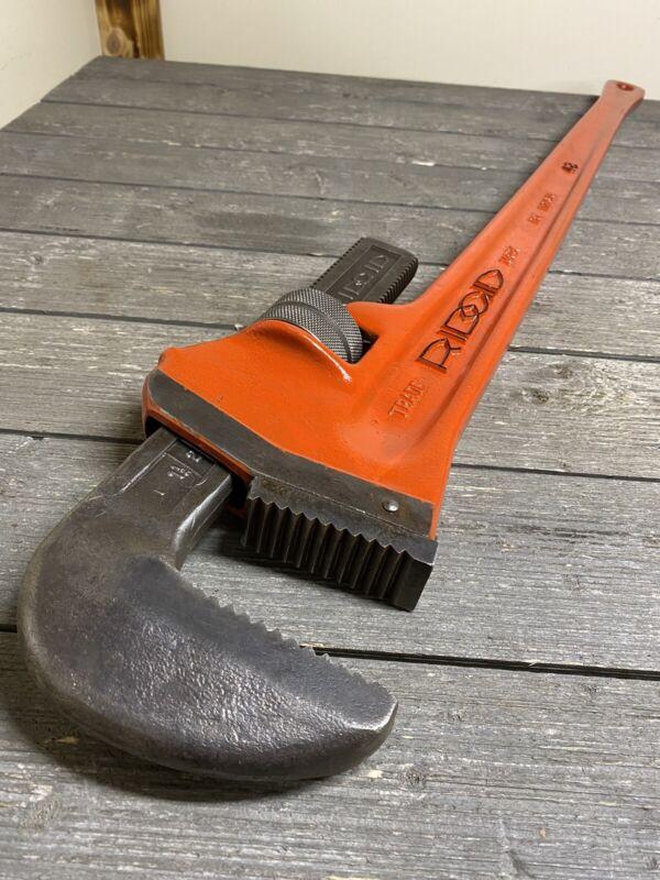 "Vintage Ridgid 48"" Steel Pipe Wrench"