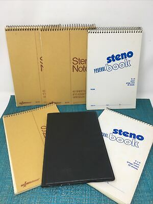 Vinrage 5 Steno Notebooks 1980s - Some Pages Used - Federal Steno Gregg Ruled