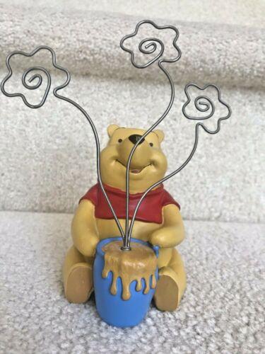 "Disney Winnie the Pooh 3 Clip Picture Photo Holder Frame Winnie The Pooh 6.25x5"""