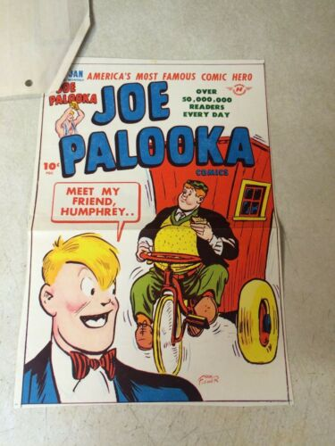 JOE PALOOKA #16 COVER ART original cover proof 1947 w/PRINTER INVOICE - HUMPHREY