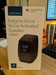Insignia Voice Smart Bluetooth Speaker Alarm Clock with Google Assistant