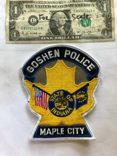 Goshen Indiana Police Patch (Maple City) Un-sewn great shape