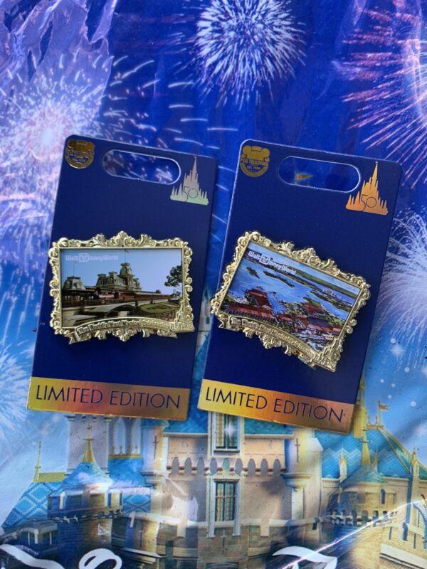 Walt Disney World 50th Anniversary Most Magical Celebration 2x Postcard Pin New