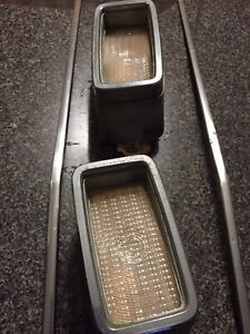 1973 Mustang single light and chrome front grill trim
