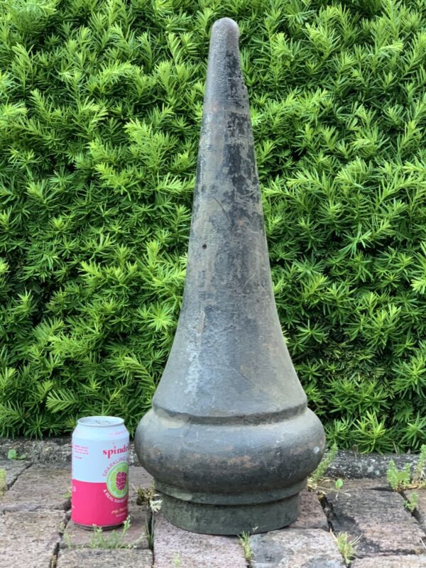 HUGE Antique Victorian Railroad Cast Iron Ball Post Finial Architecture Salvage