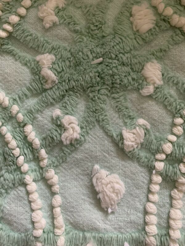 "15"" x 39"" vintage chenille fabric"