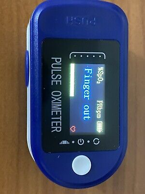 Finger Tip Pulse Oximeter Blood Oxygen Meter Spo2 Heart Rate Alarm Monitor