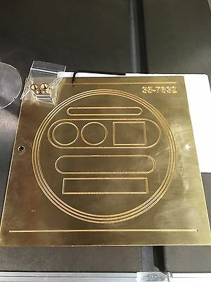 Brass Engraving Plate For New Hermes Font Tray Utility Oval Circle Template Huge