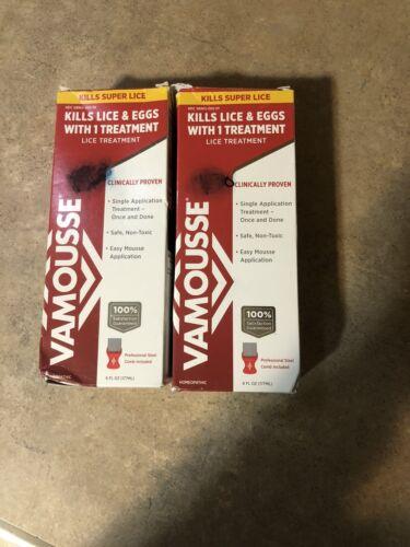 Vamousse Head Lice Treatment KILLS 100% super lice Lot Of 2