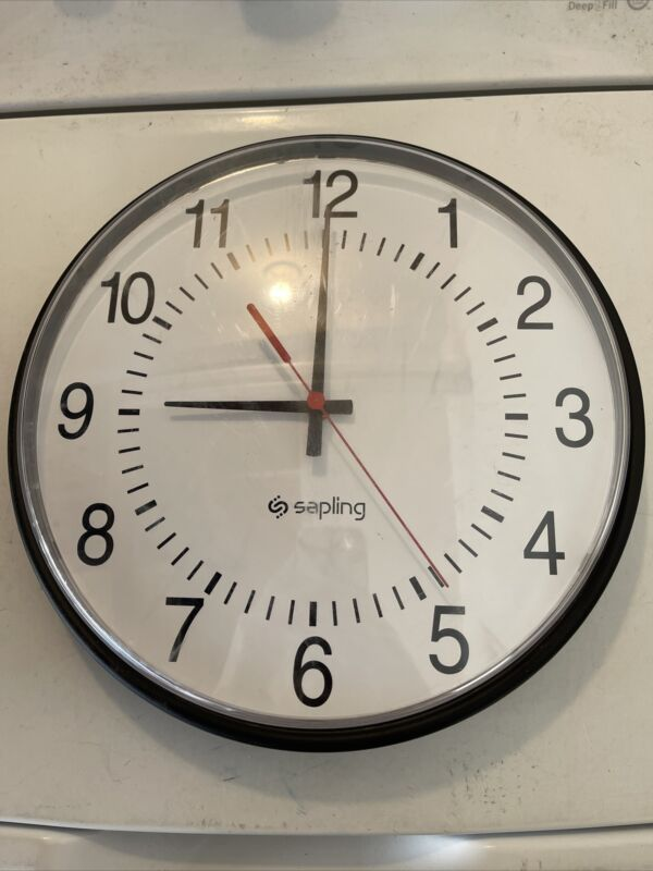"Sapling Wall Clock SAP Series PoE 12"" Diameter + Cable 12 Hour Display"