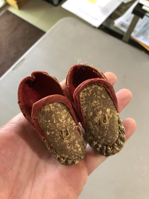 MLC s3242 Mini Baby Moccasins Old Leather With Insert