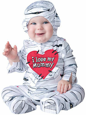 I Love My Mummy Infant Costume Hooded Jumpsuit With Heart Patch InCharacter
