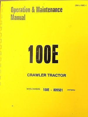 100e Crawler Loader Operation Maintenance Manual Book Dresser International Ih
