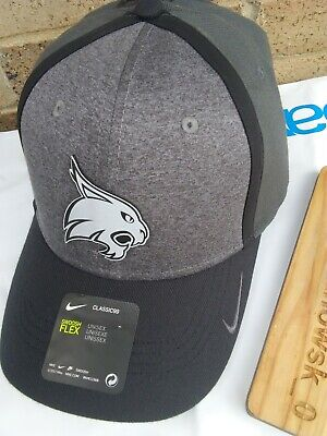 reputable site 768e6 37b95 NWT NIKE TEXAS STATE BOBCATS NCAA HEATHER GRAY REFLECTIVE FLEX FIT HAT