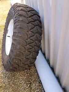 "Brand new 5 stud 15""rim with mickey thompson 85% tread tyre Langwarrin Frankston Area Preview"