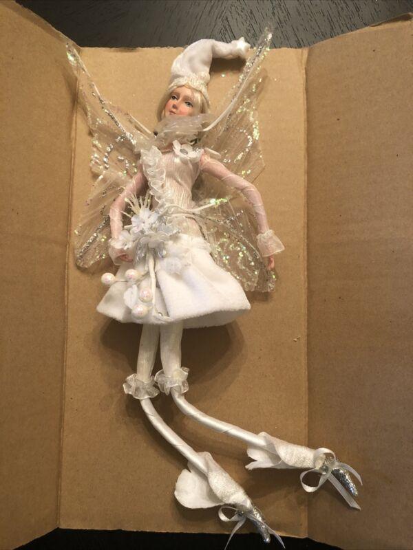 """12"""" Hanging Fairy, White, KF0493"""