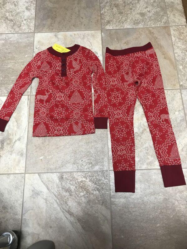 Snowflake Christmas Pajamas Red Unisex 5T New