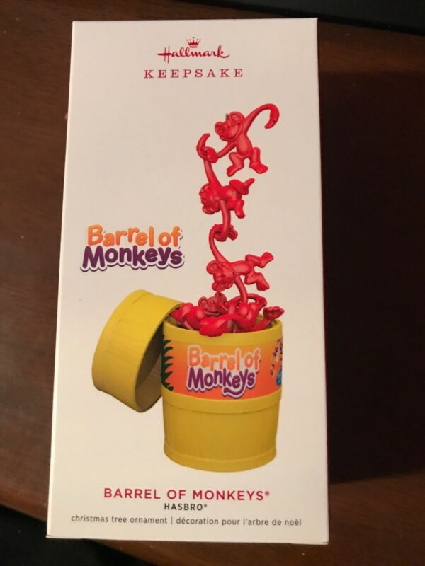 Hallmark Keepsake 2019 Barrel of Monkeys - Hasbro Ornament - New In Box