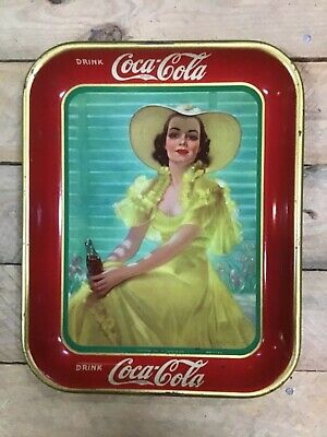 Antique 1938 Coca Cola Serving Tray - BEAUTIFUL - NICE Shine !!!