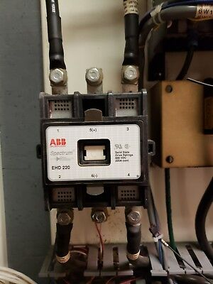 Abb Spectrum Contactor Ehd220 600vdc 220aused Great Condition Free Shipping