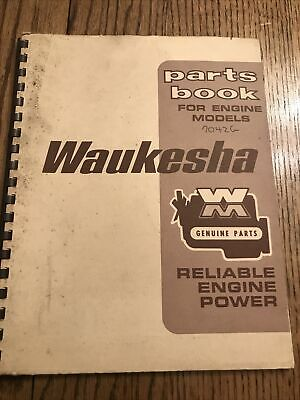 Waukesha Parts Book For Engine Models 7042 G