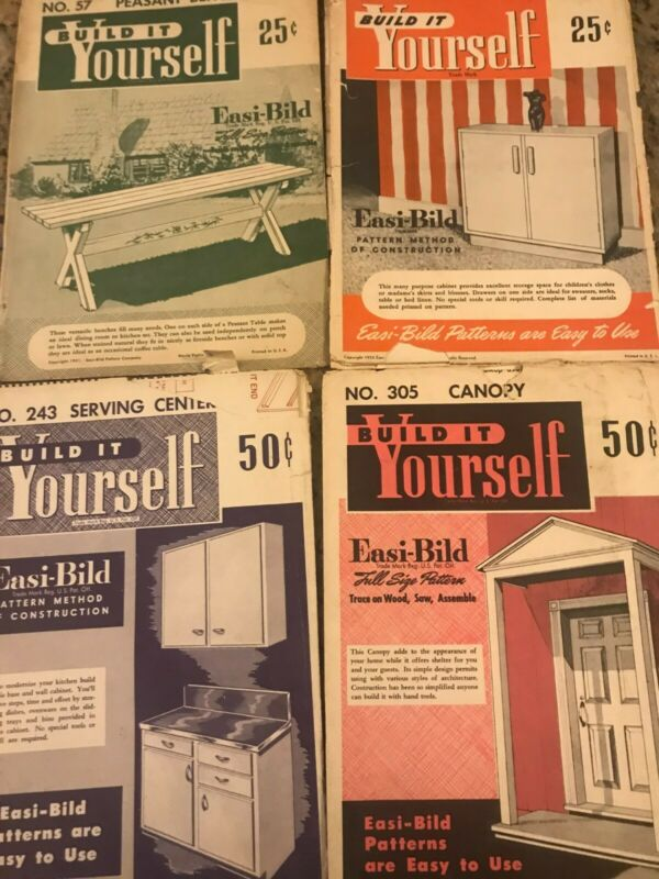 Vintage 4 issues 1950 to 1952 Easi-Bild BUILD IT YOURSELF pattern kits