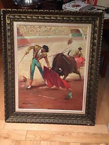 Mid Century Modern original oil painting early 1960's