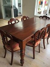 Dining Table & Six Beautiful Chairs Elanora Heights Pittwater Area Preview